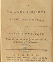 Phillis Wheatley's Book of Poems