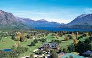 Vas en la bicileta en Bariloche.