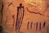 Ancient cave paintings appearing to refference the slenderman.