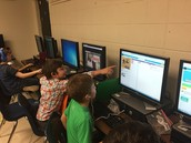 Beth Ann's kids excited coding
