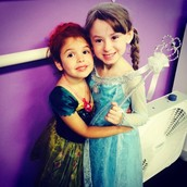 Anna and Elsa wishing everyone a Happy Halloween!