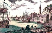 Intolerable Acts - Port of Boston in 1774
