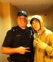 Eminem Posing with a Policeman