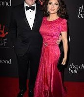 Salma Hayek with her husband François-Henri Pinault