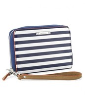 Chelsea Tech Wallet Navy Stripe