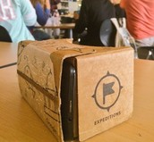 Close up of Google Cardboard, a Virtual Reality device that works with Smartphones!