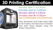 3D Printing Cert.