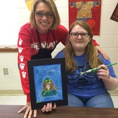 Meet Ms. Beazley, our Art teacher (featuring Zen grade 7)
