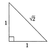 The wheel starts with an isosceles right triangle.