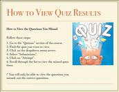For Students: View Quiz Results