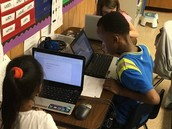 2nd grade Panthers typing poems for Mother's Day!