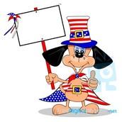4 th of july cartoon dog
