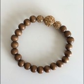Brown Bead Stretch Bracelet*