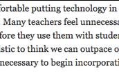 Beyond SAMR:  The Teachers Journey to Technology Integration