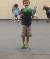 Basketball fun in PE