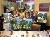 Staff Painting party! What a fun way to get some end of the year stress out!
