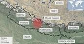 Areas where the Earthquake Occured.
