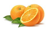 Oranges are very high in Vitamin C.