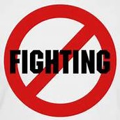 no fighting