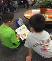 Sharing a great book with a friend