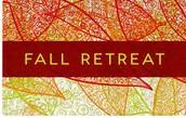 Junior/Senior Fall Retreat!