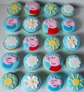 Peps pig cupcakes!