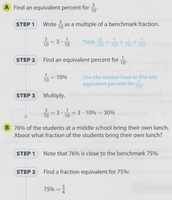 Example of using Benchmark Fractions and Percents