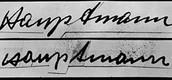 Hauptmann signature vs Ransom note Signature