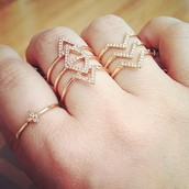 Pave Chevron Ring  $29
