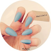 Matte Blue stilettos