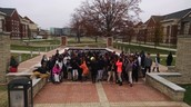 8th Grade Aycock Lions learning about the A&T Aggie Experience.