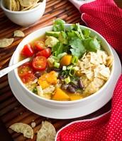 Black Bean, Sweet Potato, and Red Quinoa Soup