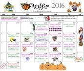 October Activities Calendar
