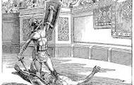 a winning gladiator
