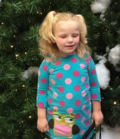 Averie by the Christmas Tree
