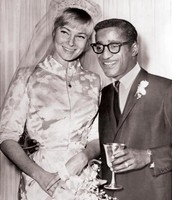 Sammy Davis Jr. and his First Wife, May Britt.