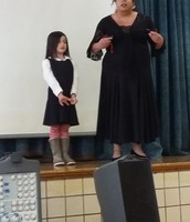 Flamenco dancer showing how to use a castanet!