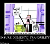 Insure Domestic Tranquility