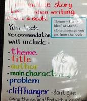 Book Recommendation Criteria Chart