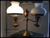 Antique Hurricane Double Lamp ~ $145
