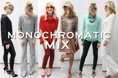 Monochromatic clothes