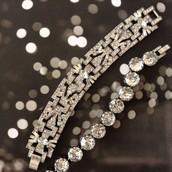 The Casablanca & Vintage Crystal Bracelets