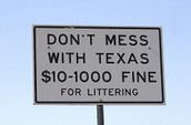 Littering is illegal in all states, including Texas.