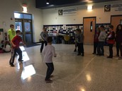 SCA Pizza party 4 square - nothing like friendly competition!