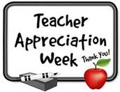 Teacher Appreciation Celebration from PTA