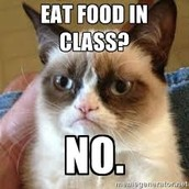 No food in class.