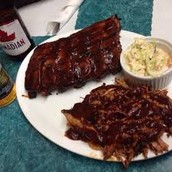 Smoked mammoth ribs