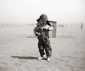 Little Boy in Dust Bowl