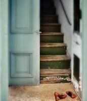 Shoes in doorway