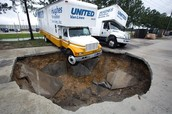 sinkhole that swallowed a truck.